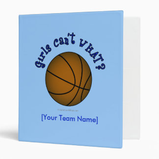 Basketball - Brown/Blue Binder