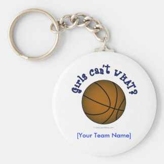 Basketball - Brown/Blue Keychains