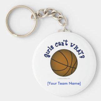 Basketball - Brown/Blue Keychain