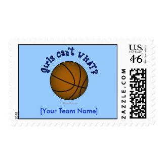 Basketball - Brown Blue Postage Stamp