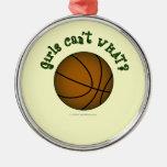 Basketball - Brown/Green Christmas Ornaments