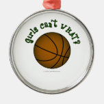 Basketball - Brown/Green Christmas Tree Ornament