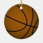 Basketball - Brown/Green Christmas Tree Ornaments