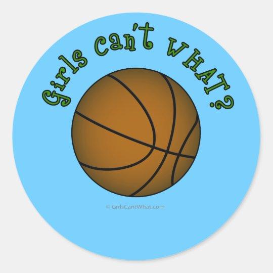 Basketball - Brown/Green Classic Round Sticker