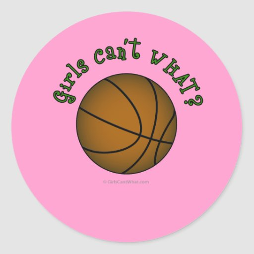 Basketball - Brown/Green Stickers