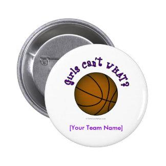 Basketball - Brown/Purple Pinback Button