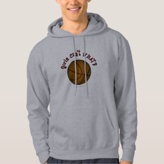 Basketball - Brown/Red Hoodie