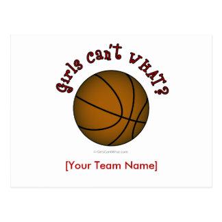 Basketball - Brown/Red Postcard