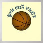 Basketball - Brown/Sky Blue Poster
