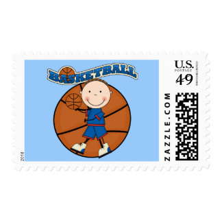 BASKETBALL Brunette Boy Tshirts and Gifts Stamp