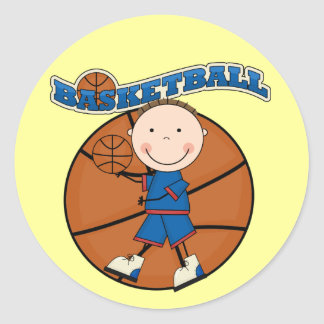 BASKETBALL Brunette Boy Tshirts and Gifts Sticker