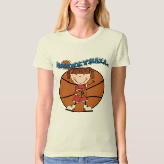 BASKETBALL Brunette Girl T-shirts and Gifts