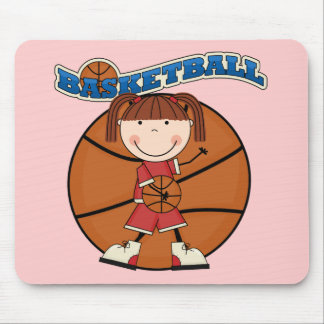 BASKETBALL Brunette Girl T-shirts and Gifts Mouse Pad