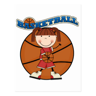 BASKETBALL Brunette Girl T-shirts and Gifts Postcard