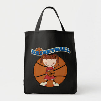 BASKETBALL Brunette Girl T-shirts and Gifts Tote Bag