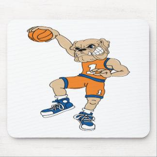 Basketball-Bulldog Mouse Pad