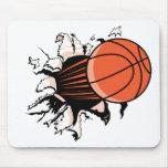 Basketball Burst Mouse Pads