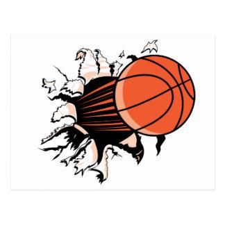 Basketball Burst Postcard