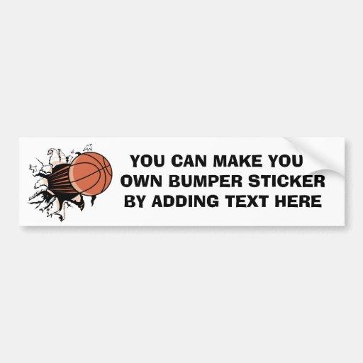 Basketball Burst T-shirts and Gifts Bumper Sticker