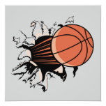 """Basketball Burst T-shirts and Gifts 5.25"""" Square Invitation Card"""