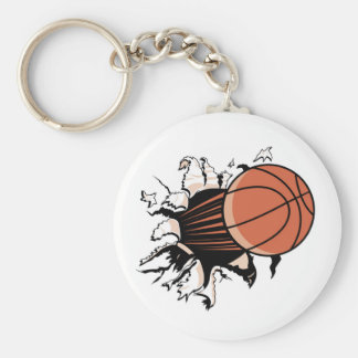 Basketball Burst T-shirts and Gifts Keychain