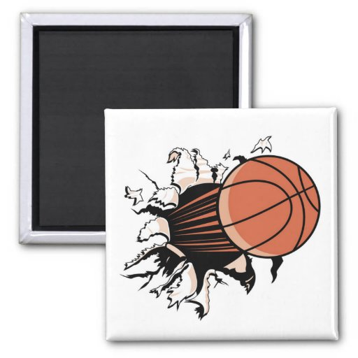 Basketball Burst T-shirts and Gifts Refrigerator Magnet