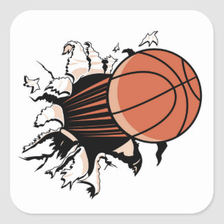 Basketball Burst T-shirts and Gifts Square Sticker