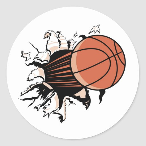 Basketball Burst T-shirts and Gifts Classic Round Sticker