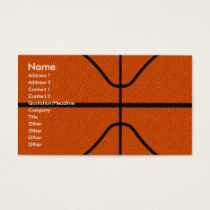 Basketball Business Card at Zazzle
