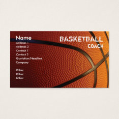 Basketball Business Card Template at Zazzle
