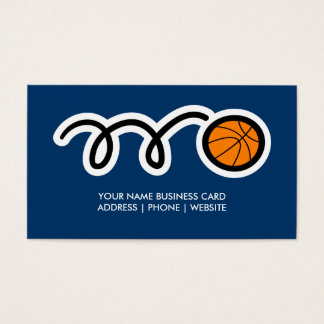Basketball business card template design for coach