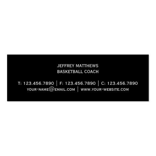 Basketball Business Card Templates