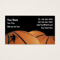 Basketball Business Cards at Zazzle