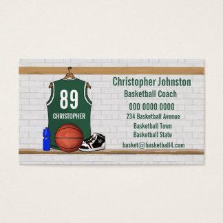 BasketBall Business cards (green)