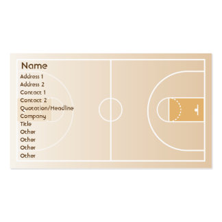 Basketball - Business Double-Sided Standard Business Cards (Pack Of 100)