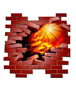 264dbfb33449 Basketball busting through brick wall nike backpack