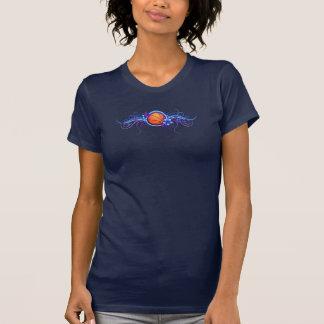 Basketball  Butterfly Flower Blue T-Shirt