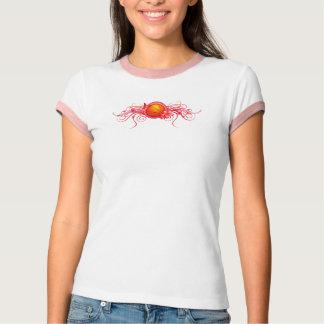 Basketball Butterfly Flower Pink T-Shirt