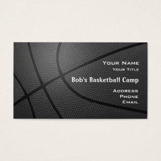 Basketball camp coach_textured look_hoop net2 business card