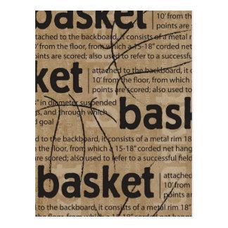 basketball-card-3x4-basket-def BASKETBALL SPORTS T Postcard