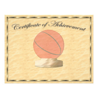 Basketball Certificate of Achievement Flyer