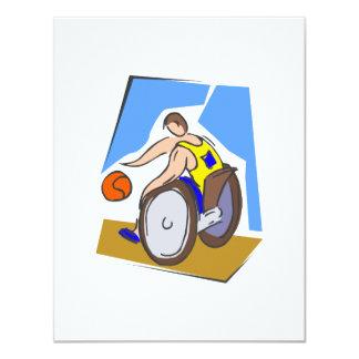 Basketball Chair Card