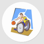 Basketball Chair Classic Round Sticker