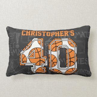 Basketball Chalkboard 40th Birthday Throw Pillow