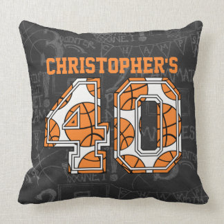 Basketball Chalkboard 40th Birthday Pillow