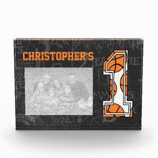 Basketball Chalkboard Photo 1st Birthday Award