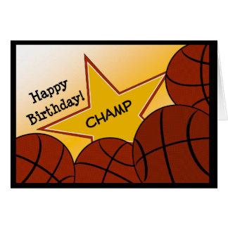 Basketball Champ Happy Birthday! Card