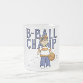 Basketball Champ Tshirts and Gifts 10 Oz Frosted Glass Coffee Mug
