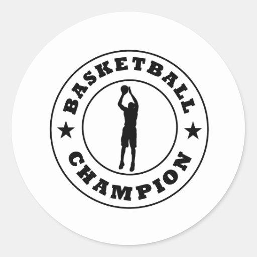 Basketball Champion Classic Round Sticker