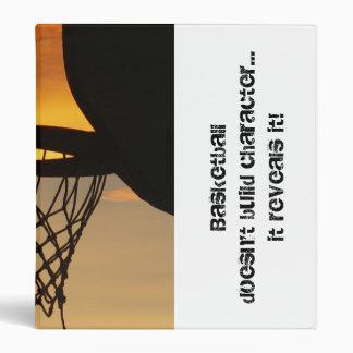 Basketball & Character 3 Ring Binders